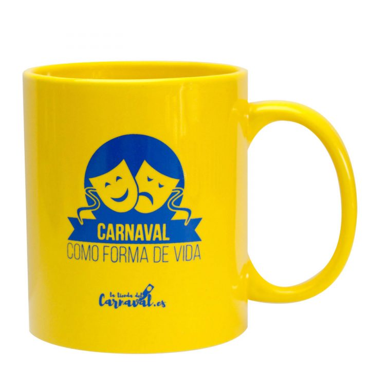 taza carnaval de cadiz amarilla