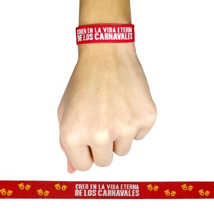 pulsera creo en la vida eterna de los carnavales