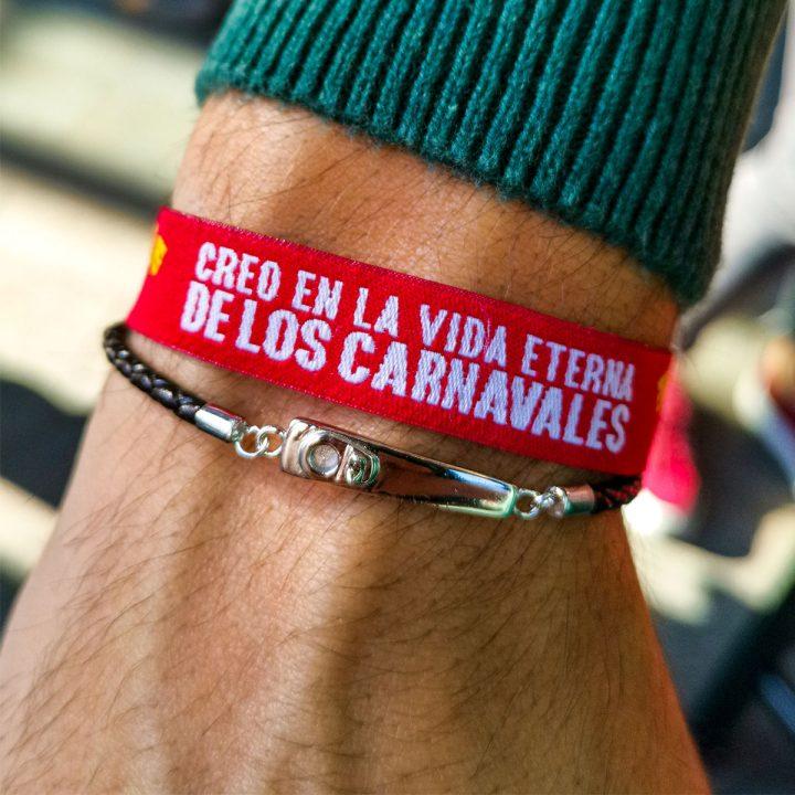 pulsera cuero carnaval de cadiz