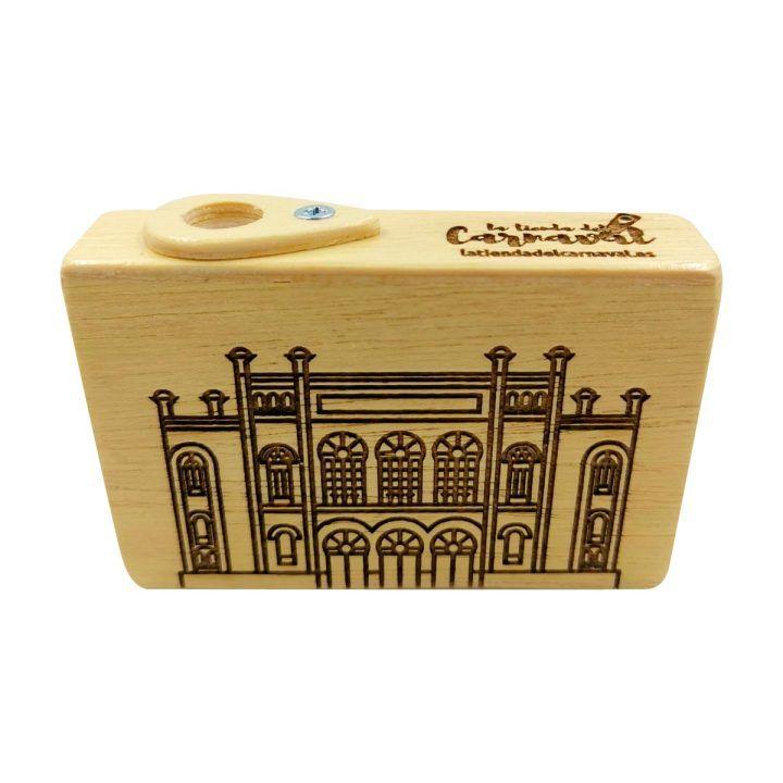 caja pito madera compas