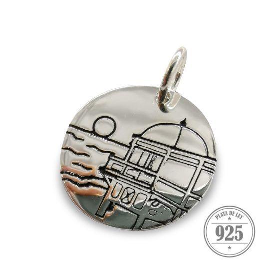 medalla colgante balneario caleta