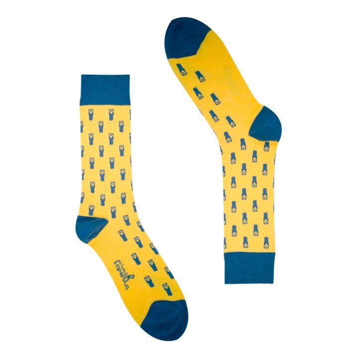 calcetines pitos carnaval amarillos