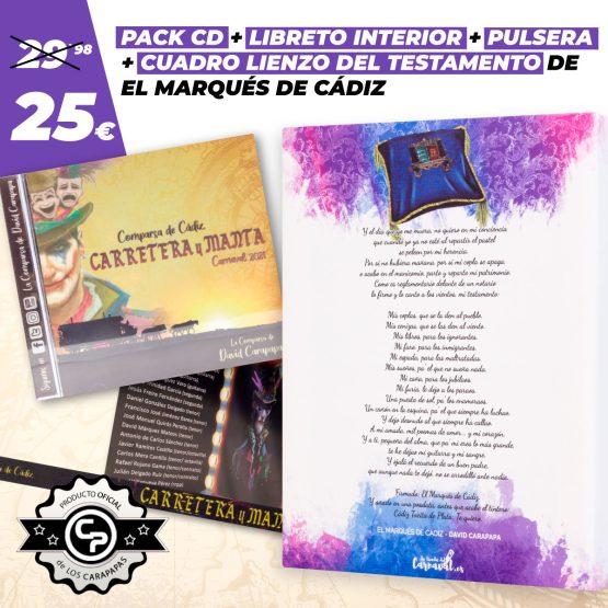 pack cd y cuadro