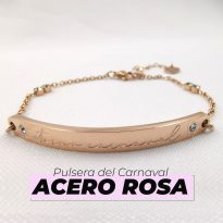 pulsera del carnaval acero rosa