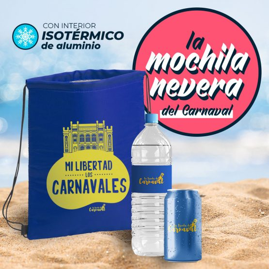mochila nevera carnaval de cadiz