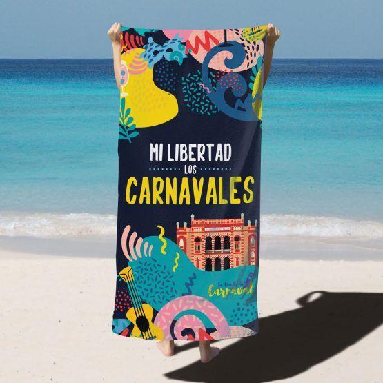 toalla carnaval de cadiz